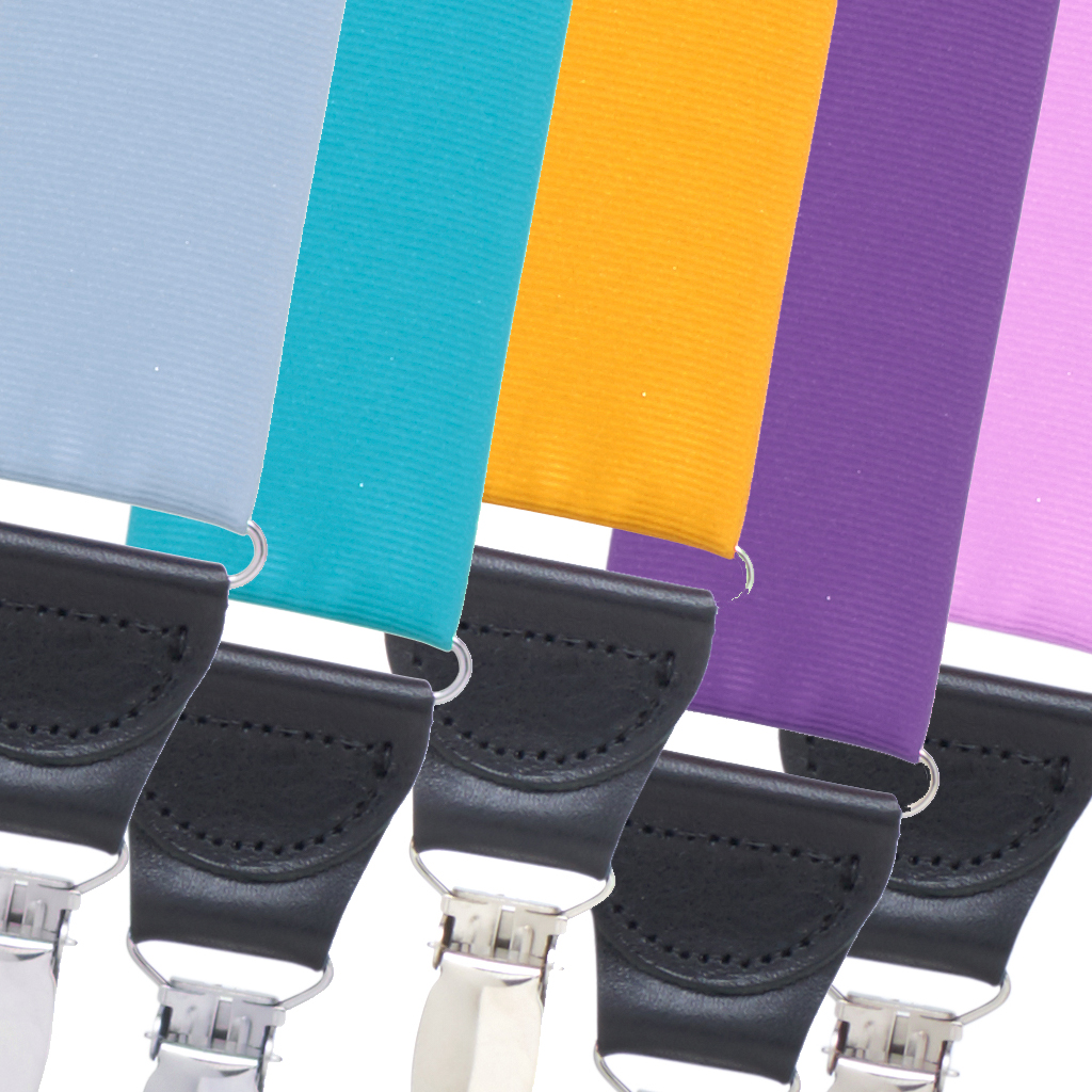 Grosgrain Bright Colors Drop Clip Suspenders