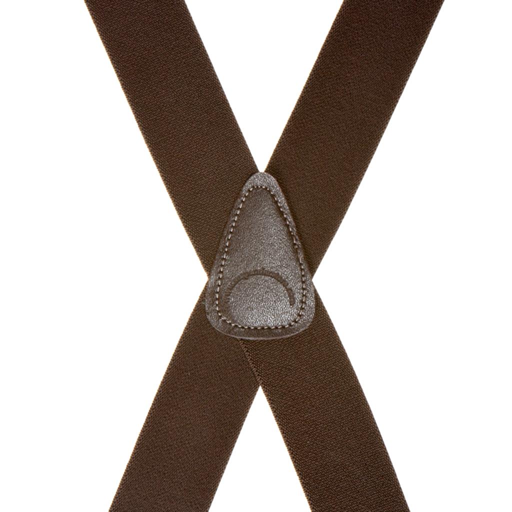 1.5 Inch Wide Clip Suspenders - BROWN