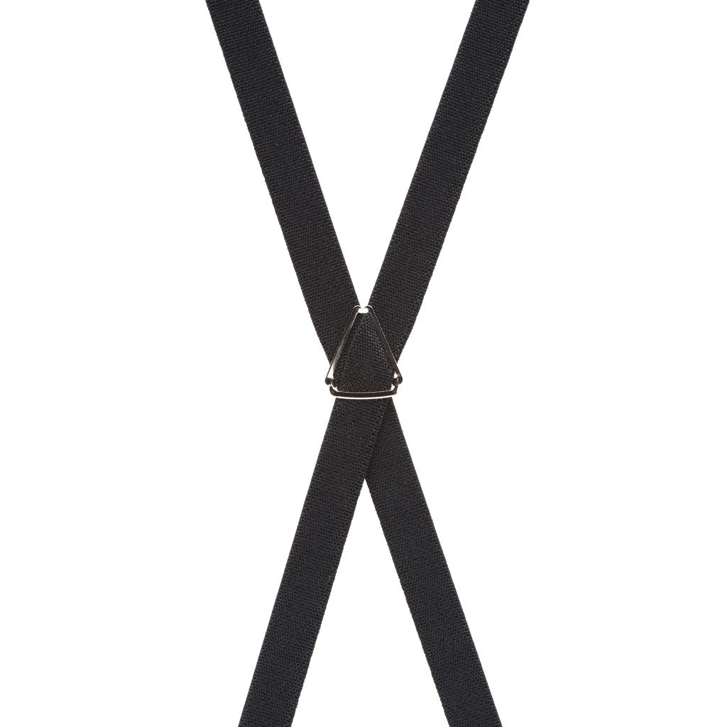 3/4 Inch Wide Thin Suspenders - BLACK (Matte)