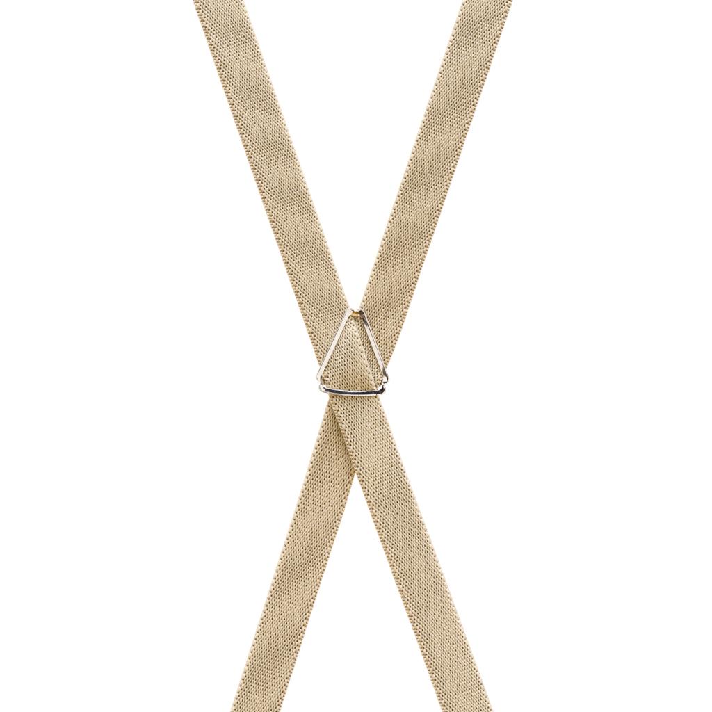 1/2 Inch Wide Skinny Suspenders - TAN