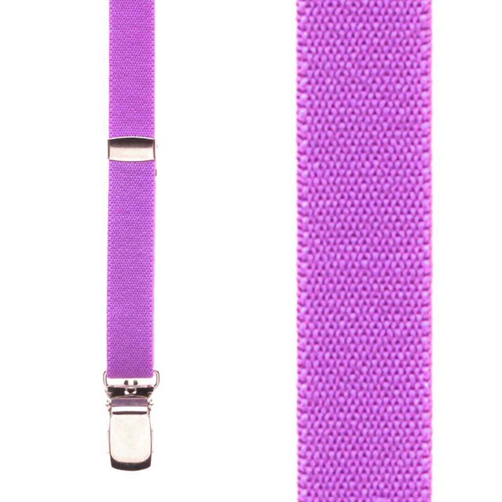 1/2 Inch Wide Skinny Suspenders - NEON PURPLE