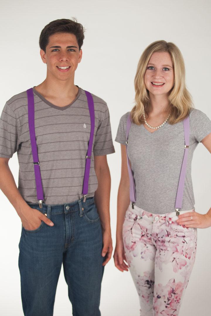1 Inch Wide  Fresh Hues Clip Suspenders (Y-Back)