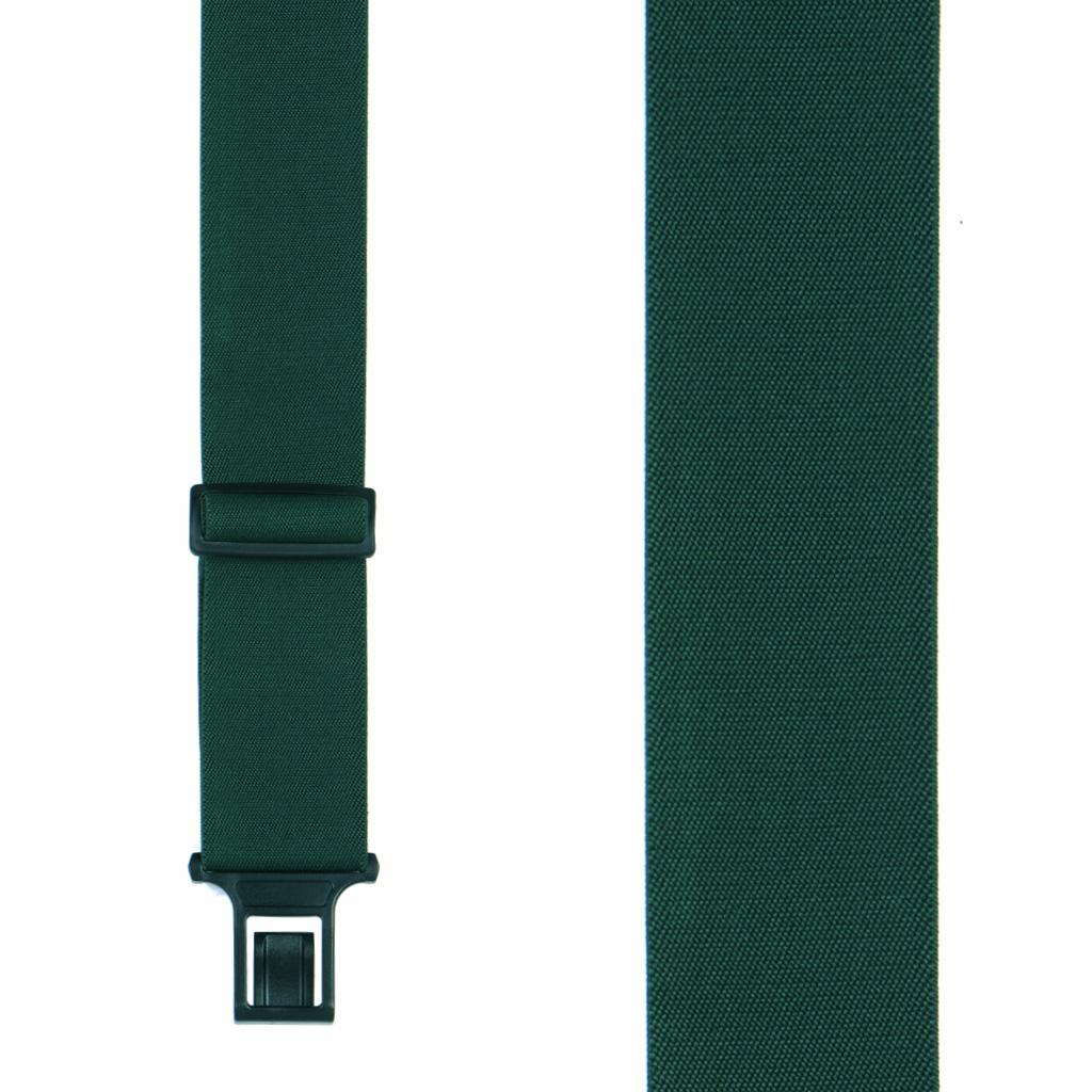 Green Perry Suspenders - 2 Inch Wide Belt Clip