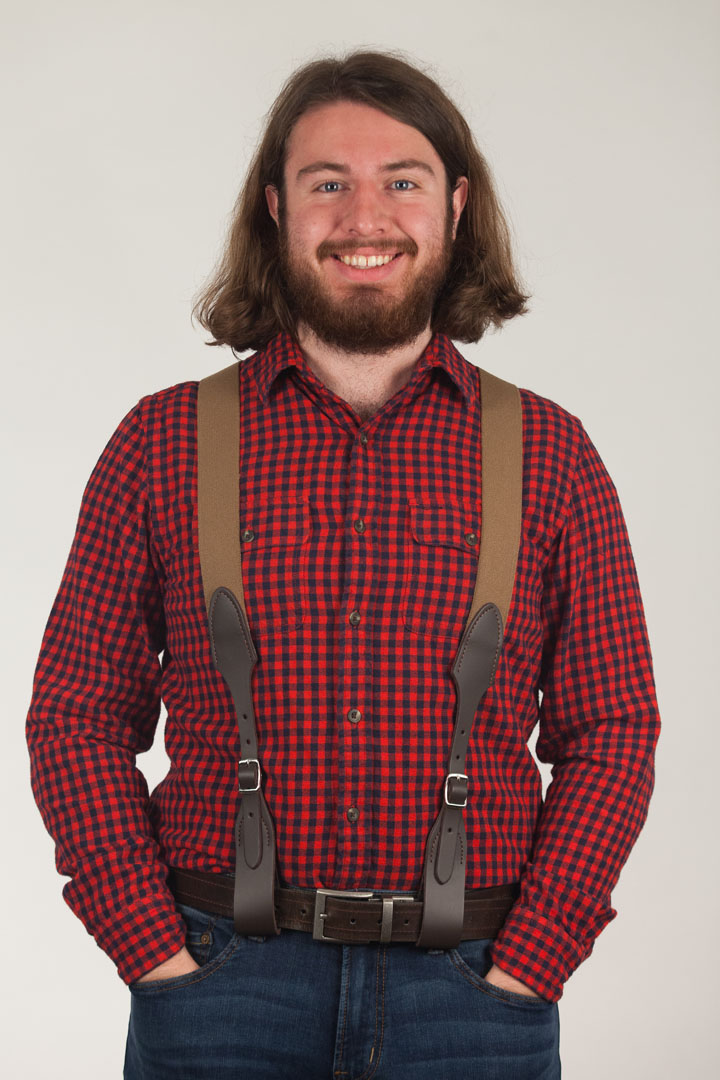 Rugged Comfort Suspenders - Belt Loop DESERT