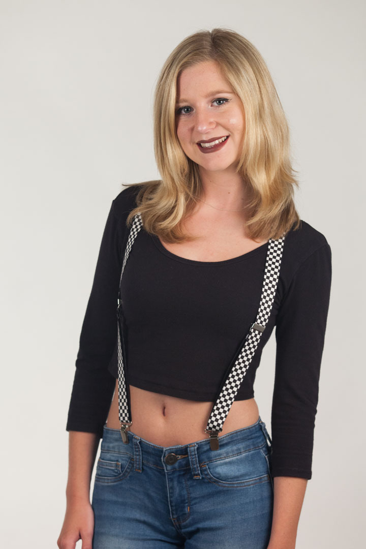 Black & White Checkered Suspenders - 1 Inch Y-Back