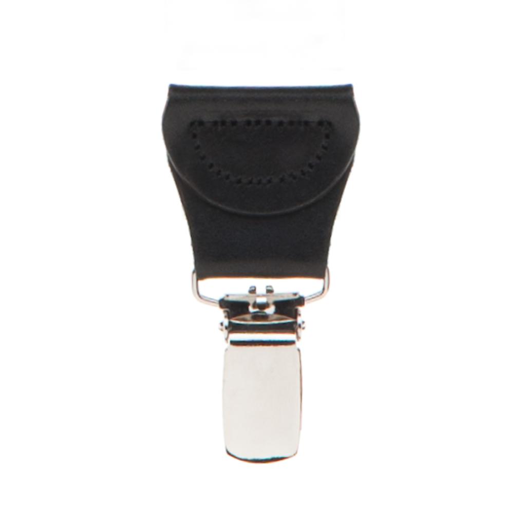 Grey Jacquard  Suspenders - Petite Diamond Clip