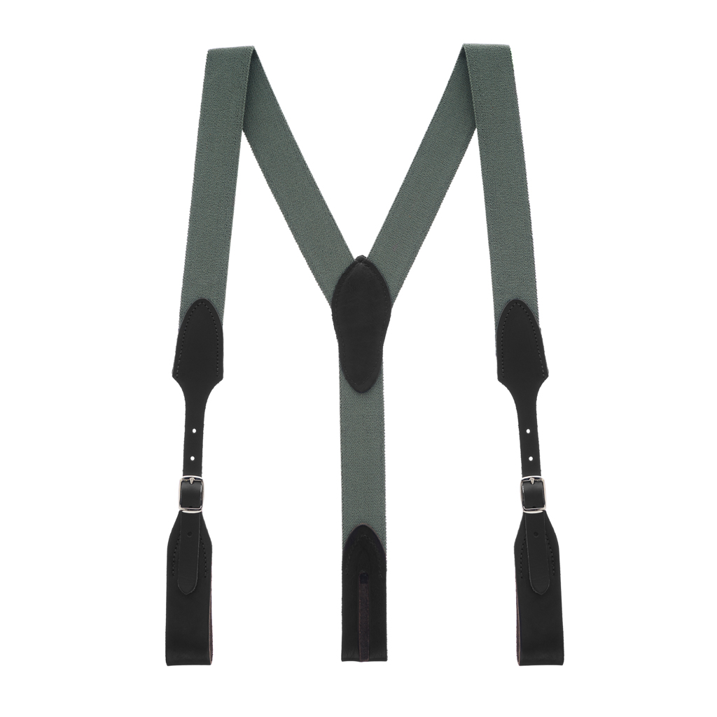 Rugged Comfort Suspenders - Belt Loop CACTUS GREEN