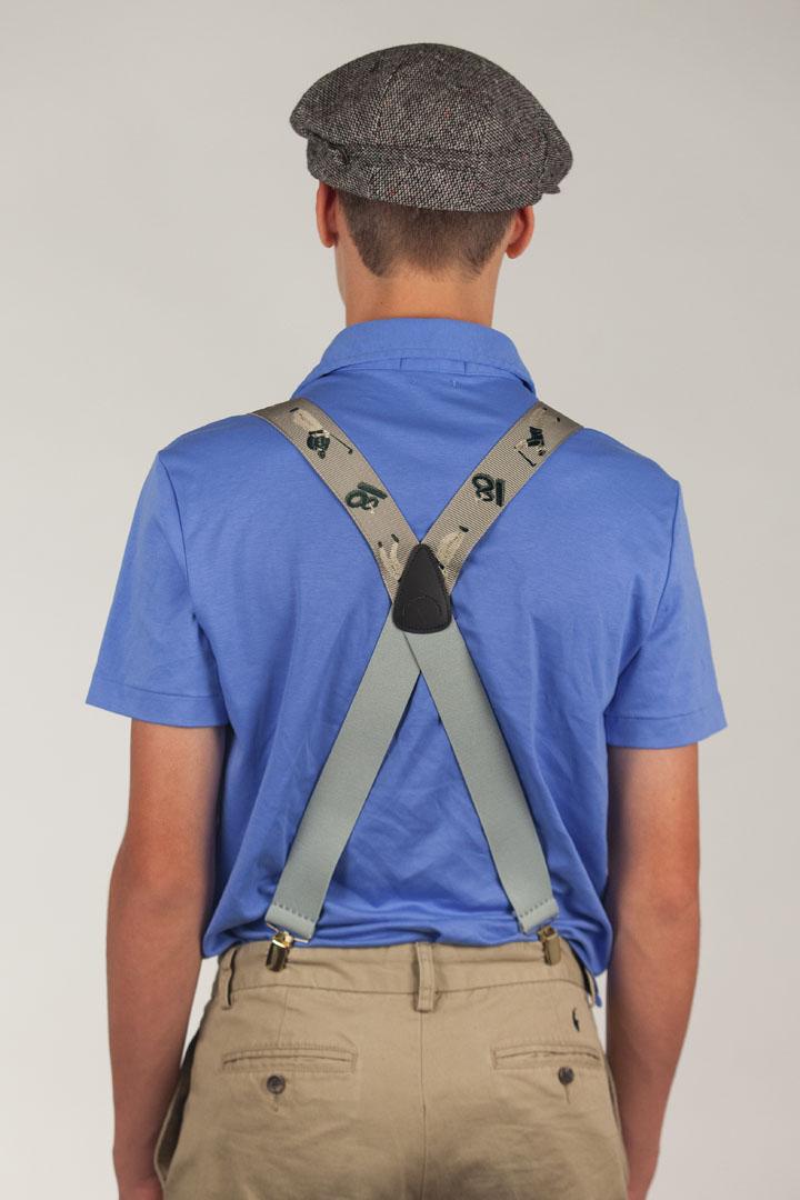Golfer Grosgrain Suspenders - CLIP