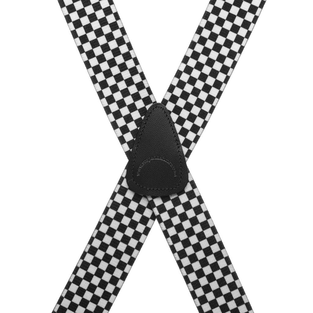 Checkered 1.5-Inch Small Pin Clip Suspenders