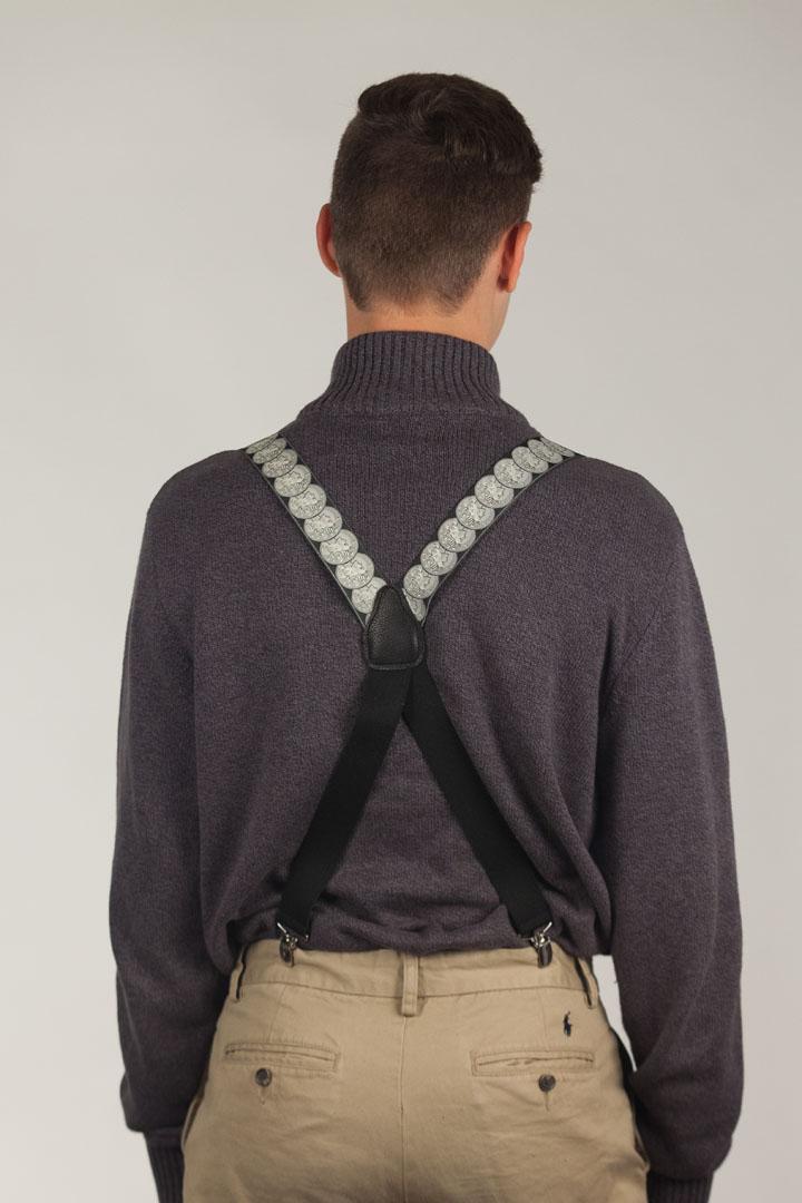 Vintage Ribbon Conversational Suspenders - CLIP