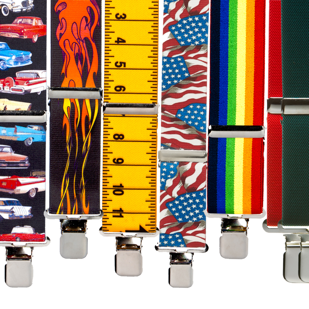 Big & Tall Suspenders - Novelty Construction Clips
