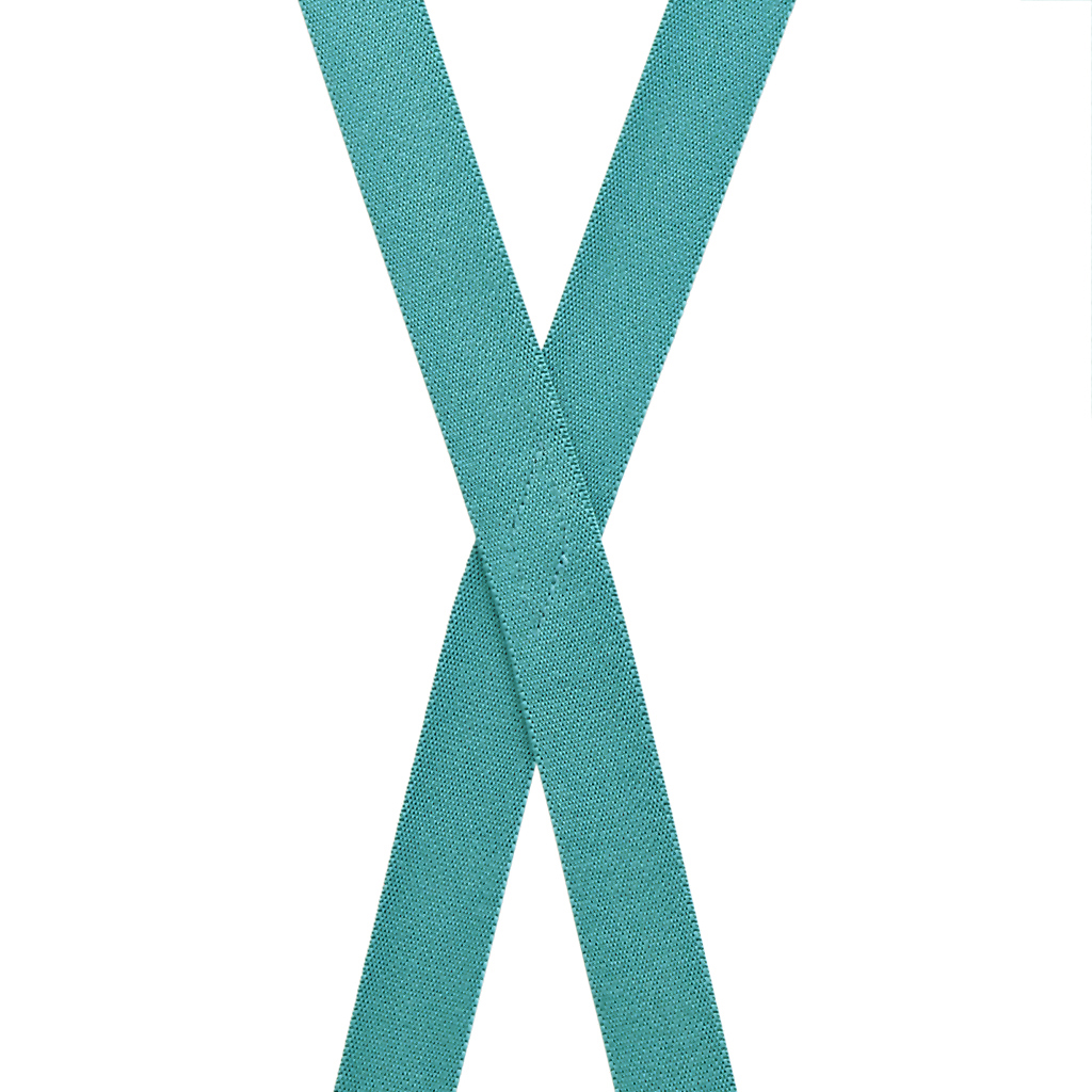 1 Inch Wide Clip Suspenders (X-Back) - TEAL