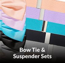 Bow Tie and Suspender Sets