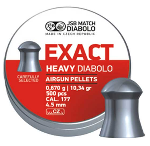 JSB Exact Heavy .177 | 500 pcs | 10.34 gr