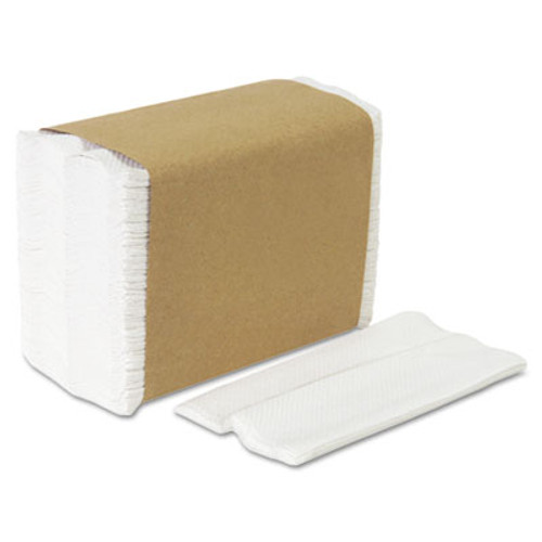 Georgia Pacific Tall Fold Dispenser Napkins, 1-Ply, 7 x 13 1/2, White, 10000/Carton (GPC 332-01)