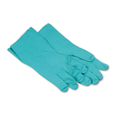 Boardwalk Nitrile Flock-Lined Gloves, X-Large, Green, Dozen (BWK 183XL)