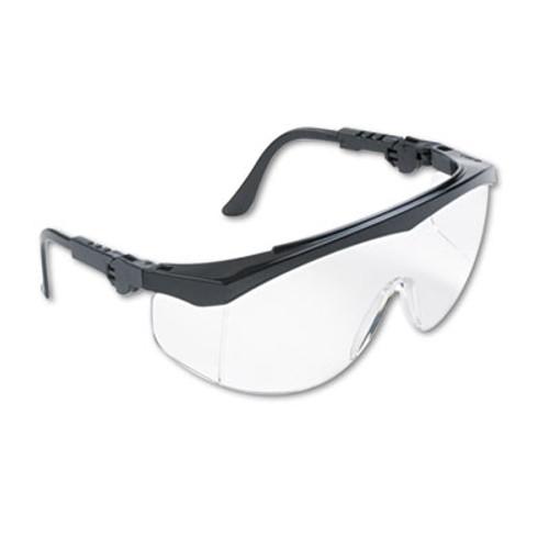 Crews Tomahawk Wraparound Safety Glasses, Black Nylon Frame, Clear Lens, 12/Box (CWS TK110)