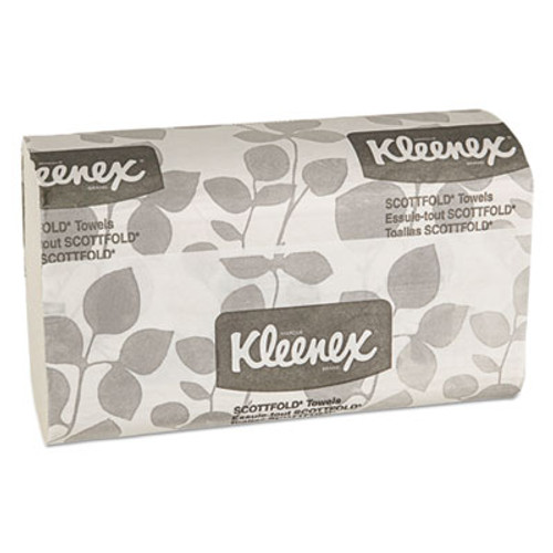 Kleenex SCOTTFOLD Paper Towels, 7 4/5 x 12 2/5, White, 120/Pack, 25 Packs/Carton (KCC 13253)