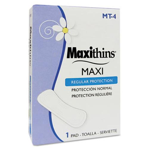 HOSPECO Maxithins Vended Sanitary Napkins #4, 250 Individually Boxed Napkins/Carton (HOS MT-4)
