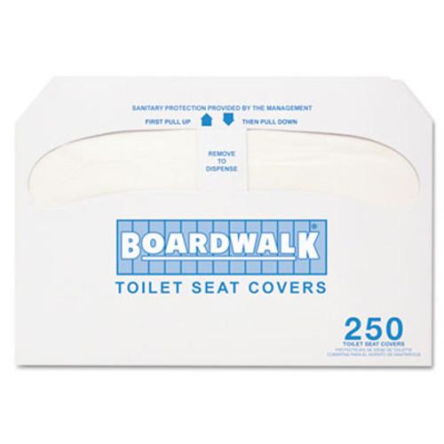 Boardwalk Premium Half-Fold Toilet Seat Covers, 250 Covers/Sleeve, 10 Sleeves/Carton (BWK K2500)