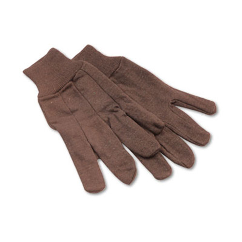 Boardwalk Jersey Knit Wrist Clute Gloves, One Size Fits Most, Brown, 12 Pairs (BWK 9)