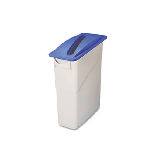 Rubbermaid Slim Jim Paper Recycling Top, 20 3/8 x 11 3/8 x 2 3/4, Dark Blue (RCP 2703-88 BLU)