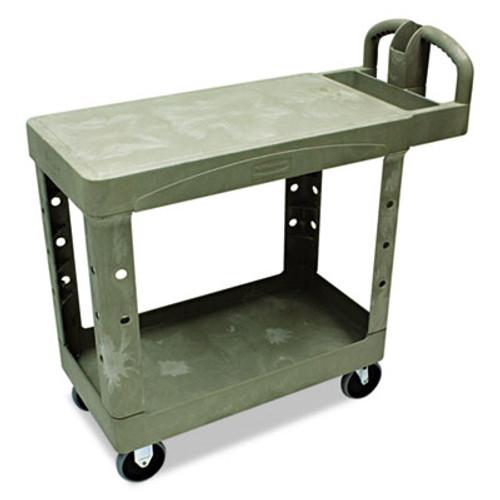 Rubbermaid Flat Shelf Utility Cart, Two-Shelf, 19-1/5w x 37-7/8d x 33-1/3h, Beige (RCP 4505 BEI)