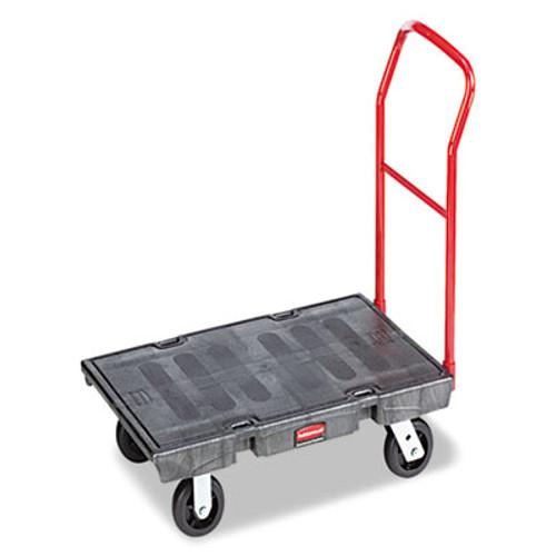 "Rubbermaid Heavy-Duty Platform Truck Cart, 2000 lb Capacity, 24"" x 48"" Platform, Black (RCP 4436 BLA)"
