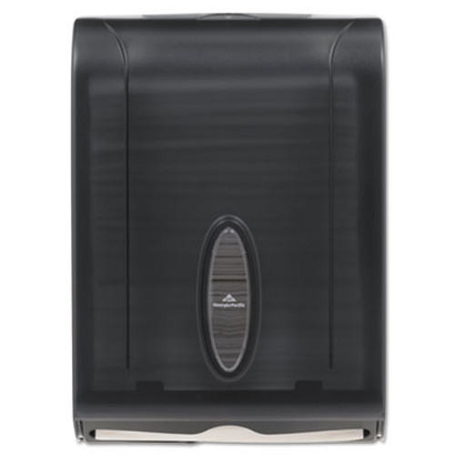 Georgia Pacific Professional C-Fold/Multifold Towel Dispenser, 11 x 5 1/4 x 15 2/5, Translucent Smoke (GPC 566-50/01)