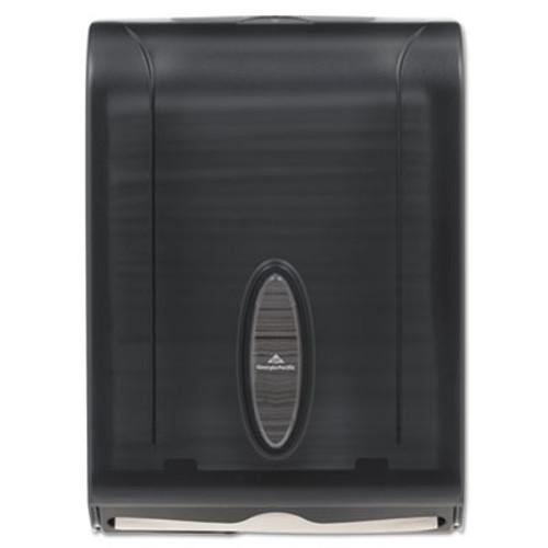 Georgia Pacific C-Fold/Multifold Towel Dispenser, 11 x 5 1/4 x 15 2/5, Translucent Smoke (GPC 566-50/01)