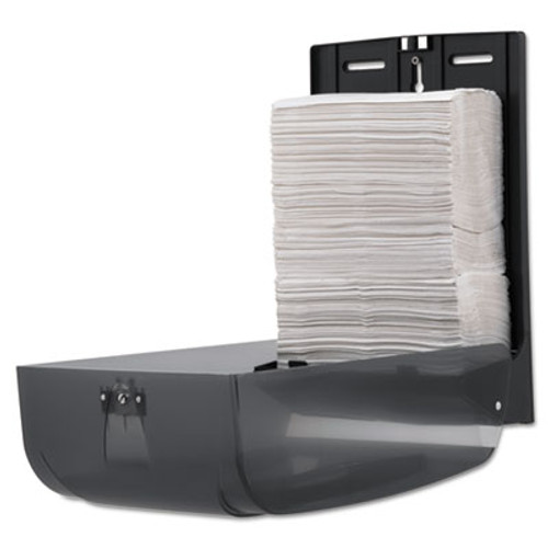 Georgia Pacific C-Fold/Multifold Towel Dispenser, 11 x 5 1/4 x 15 2/5, Translucent Smoke (GPC 566-50/01)