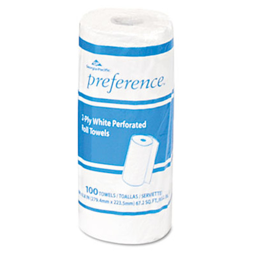 Georgia Pacific Perforated Paper Towel, 8 4/5 x 11, White, 100/Roll, 30 Rolls/Carton (GPC 273)