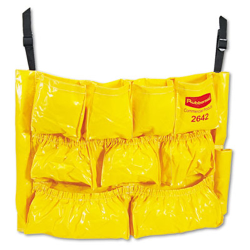 Rubbermaid Brute Caddy Bag, 12 Pockets, Yellow (RCP 2642 YEL)