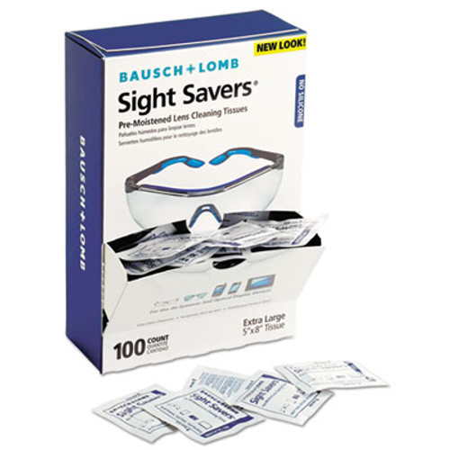 Bausch & Lomb Sight Savers Premoistened Lens Cleaning Tissues, 100 Tissues/Box (BLO 8574GM)
