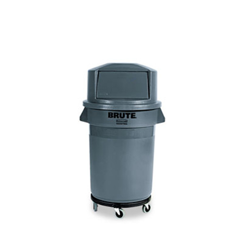 Rubbermaid Round Brute Container, Plastic, 32 gal, Gray (RCP 2632 GRA)