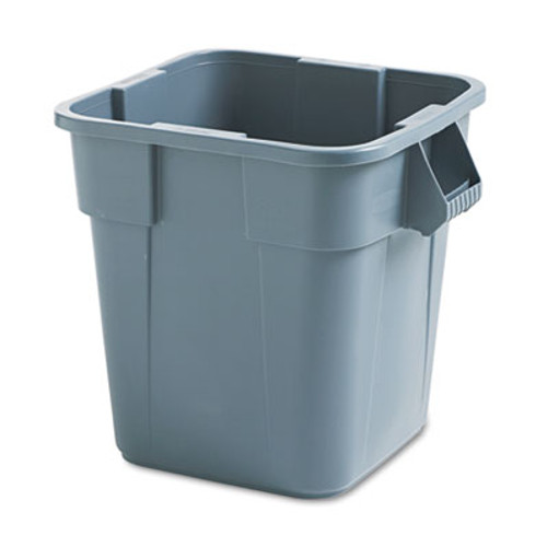 Rubbermaid Brute Container, Square, Polyethylene, 28gal, Gray (RCP 3526 GRA)