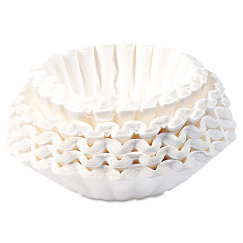 BUNN Flat Bottom Coffee Filters, 12-Cup Size, 250/Pack (BUNBCF250)