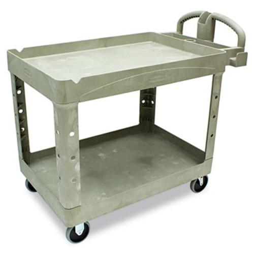 Rubbermaid Heavy-Duty Utility Cart, Two-Shelf, 25 9/10w x 45 1/5d x 32 1/5h, Beige (RCP 4520-88 BEI)