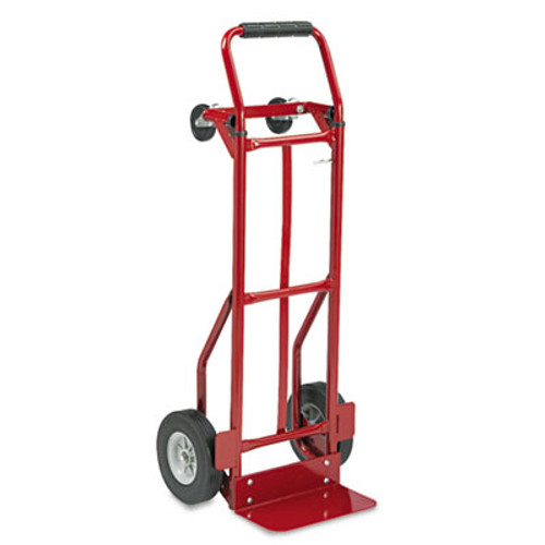 Safco Two-Way Convertible Hand Truck, 500-600lb Capacity, 18w x 51h, Red (SFC 4086R)