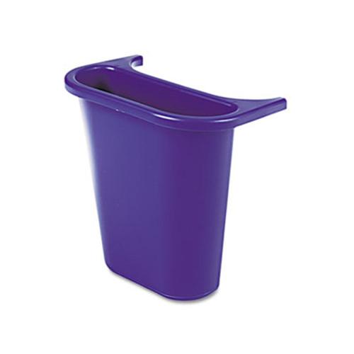 Rubbermaid Wastebasket Recycling Side Bin, Attaches Inside or Outside, 4.75qt, Blue (RCP 2950-73 BLU)