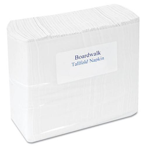 """Boardwalk Tallfold Dispenser Napkin, 12"""" x 7"""", White, 500/Pack, 20 Packs/Carton (BWK 8302)"""
