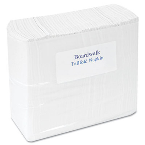 "Boardwalk Tallfold Dispenser Napkin, 12"" x 7"", White, 500/Pack, 20 Packs/Carton (BWK 8302)"
