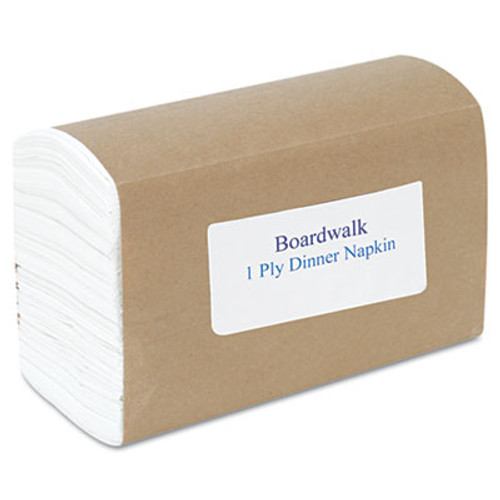 "Boardwalk Dinner Napkin, 17"" x 17"", White, 3000/Carton (BWK 8307)"