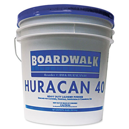 Boardwalk Low Suds Industrial Powder Laundry Detergent, Fresh Lemon Scent, 40lb Pail (BWK HURACAN40)