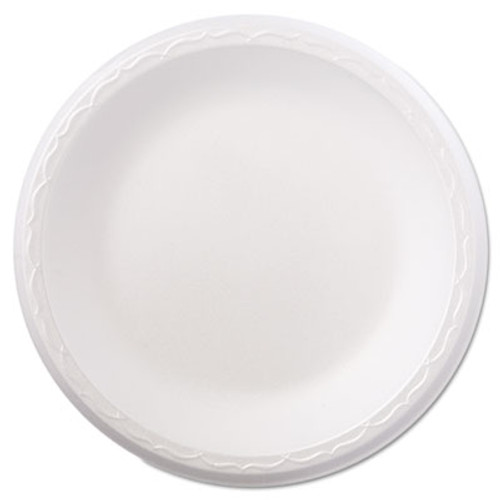 "Genpak Foam Dinnerware, Plate, 8 7/8"" dia, White, 125/Pack, 4 Packs/Carton (GNP 80900)"