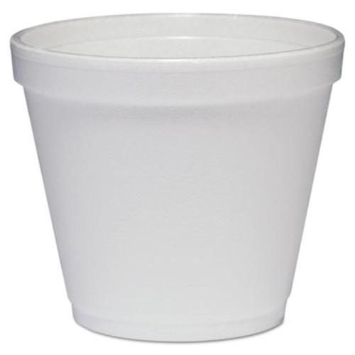 Dart Food Containers, Foam, 8oz, White, 1000/Carton (DCC 8SJ12)