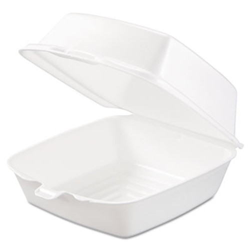 Dart Carryout Food Containers, Foam, 1-Comp, 5 7/8 x 6 x 3, White, 500/Carton (DCC 60HT1)
