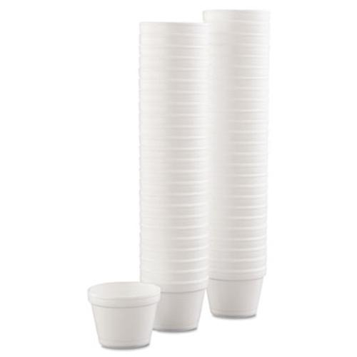 Dart Bowl Containers, Foam, 4oz, White, 1000/Carton (DCC 4J6)
