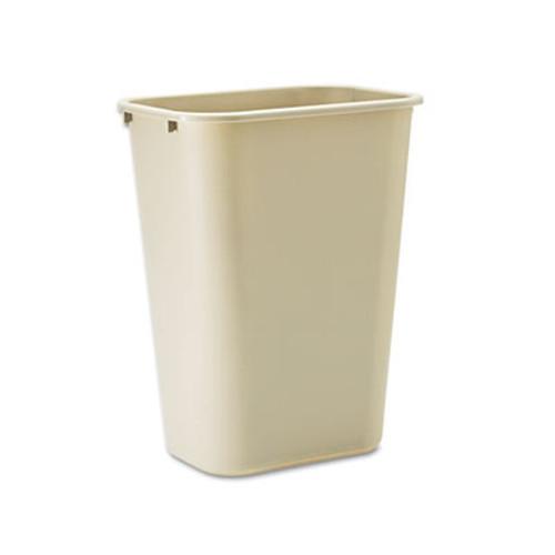 Rubbermaid Deskside Plastic Wastebasket, Rectangular, 10 1/4 gal, Beige (RCP 2957 BEI)
