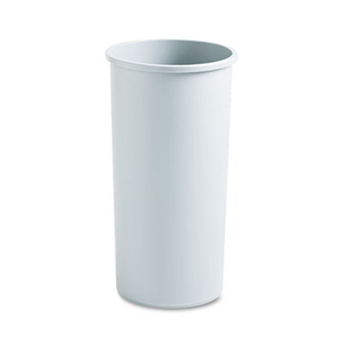 Rubbermaid Untouchable Waste Container, Round, Plastic, 22gal, Gray (RCP 3546 GRA)